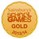 Sainsbury School Games Gold Award 2013- 2014